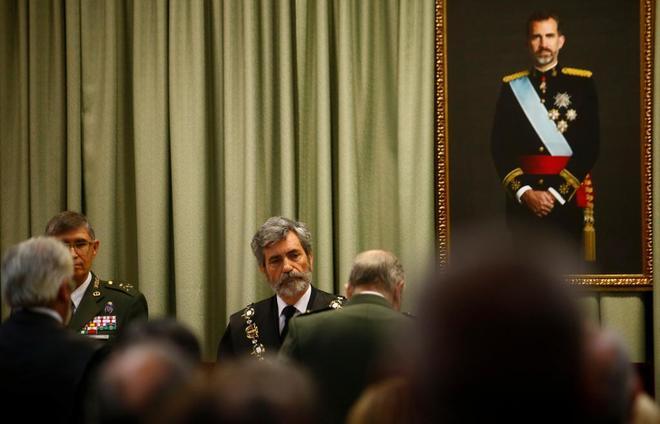 Carlos Lesmes, presidente del Tribunal Supremo y del CGPJ, en un acto...