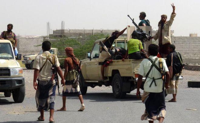Fuerzas pro-gubernamentales en Hodeida.