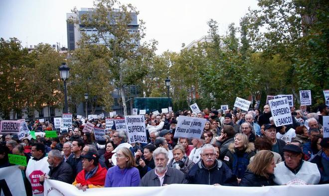 Manifestación el pasado sábado contra la decisión del Supremo sobre las hipotecas.