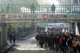 Un momento de la manifestación celebrada en Alsasua (Navarra) el...