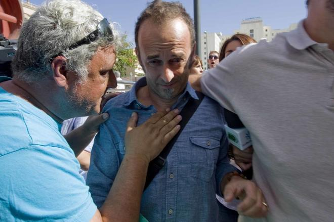 Francesco Arcuri, ex pareja de Juana Rivas, al acudir a declarar a los...