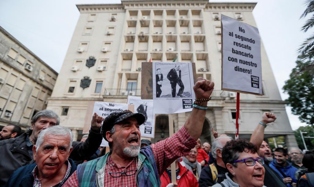 Manifestación en protesta por la sentencia de las hipotecas