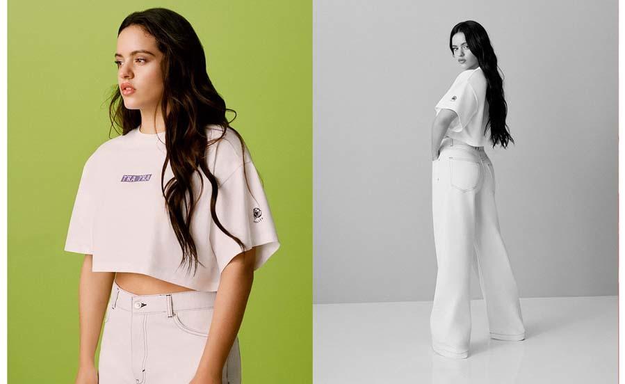 Camiseta 'cropped' - Colección de Pull&Bear by Rosalía