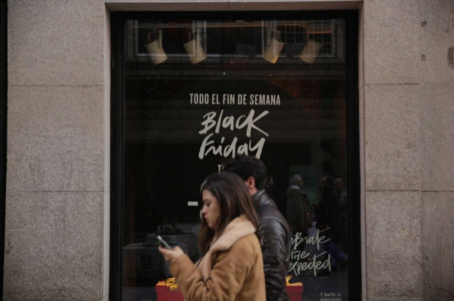 Cartel del Black Friday durante la edición pasada