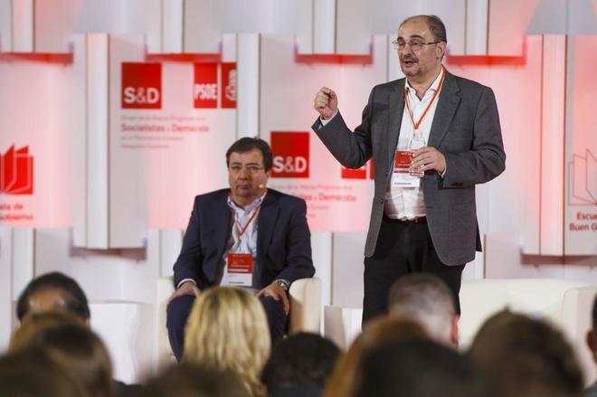 El presidente de Aragón, Javier Lambán, en un acto del PSOE...