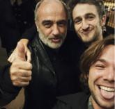 Francesc Orella, Joan Amargós y Carlos Cuevas tras la representación...