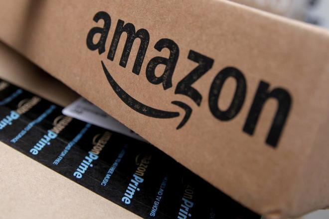 Una caja de la compañía Amazon.