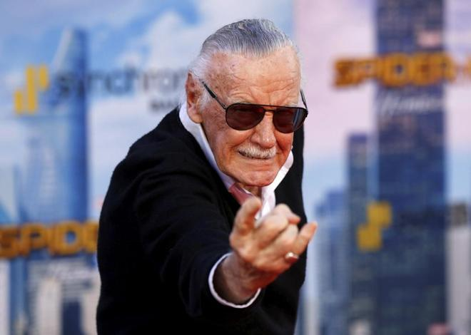 Stan Lee en la presentación de 'Spider-Man: Homecoming'