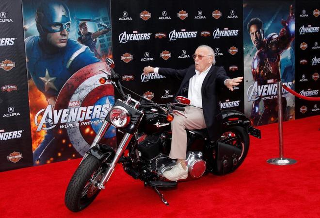 Stan Lee, durante la presentación de la película de 'Los Vengadores' (2012) en Los Ángeles.