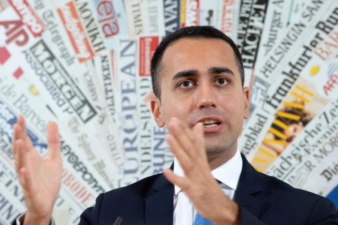 Luigi Di Maio durante una rueda de prensa en Roma.