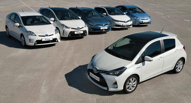 La gama de híbridos de Toyota