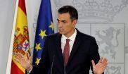 Pedro Sánchez durante una rueda de prensa en La Moncloa.