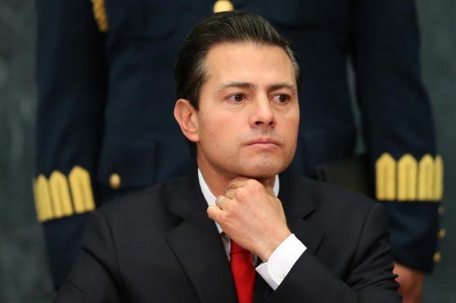 El presidente de México, Enrique Peña Nieto, durante una intervención ante los medios.