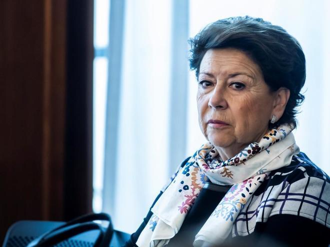 La ex consejera Magdalena Álvarez, este miércoles en el juicio de los ERE.