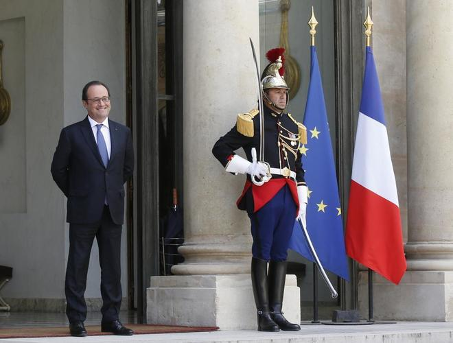 El ex presidente francés François Hollande, en el Palacio del Elíseo.