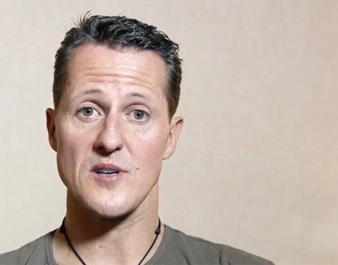 Michael Schumacher, en un momento de la entrevista que se ha hecho pública ahora por su 50 cumpleaños.