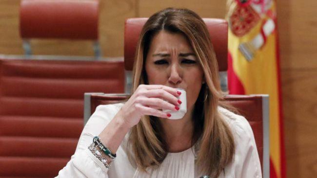 La candidata a la reelección como presidenta de Andalucía, Susana...