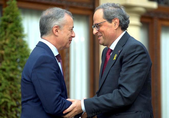 Los presidentes del País Vasco y Cataluña, Iñigo Urkullu y Quim...