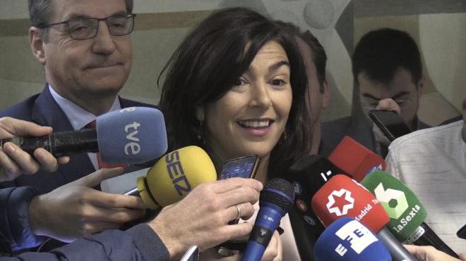 María José Rienda, durante el acto de presentación de la campaña #Abusofueradejuego