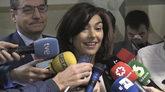María José Rienda, durante el acto de presentación de la campaña...