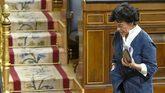 La ministra de Educación, Isabel Celaá, en el Congreso de los...