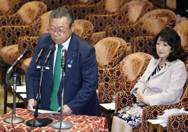 El ministro de Ciberseguridad japonés, Yoshitaka Sakurada, en un acto en Tokio.