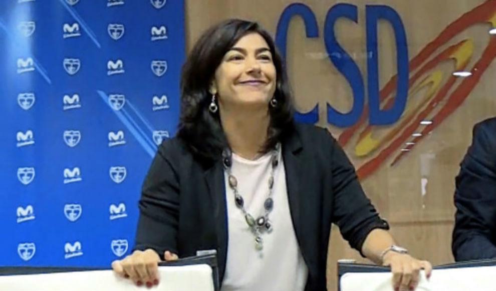La empresa de María José Rienda no tiene empleados aunque ella niega que sea fantasma