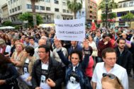 Concentración contra la droga y por la seguridad en Algeciras hace unos meses.