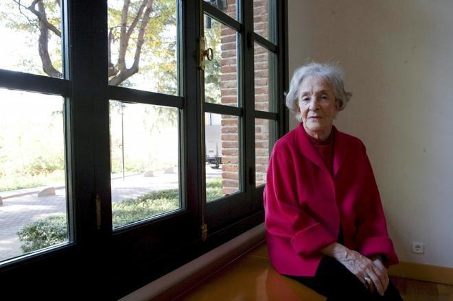 Ida Vitale, en la Residencia de Estudiantes de Madrid.