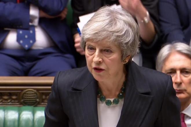 La 'premier' británica Theresa May durante una sesión parlamentaria.