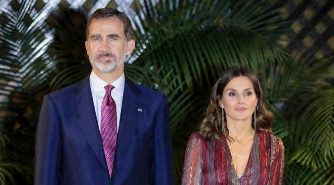 El Rey Felipe y la Reina Letizia, durante su visita a Perú.