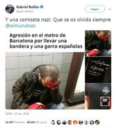 Captura del tuit de Gabriel Rufián.