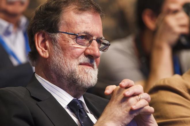 Mariano Rajoy, ex presidente del Gobierno, durante el congreso del PP celebrado en julio.