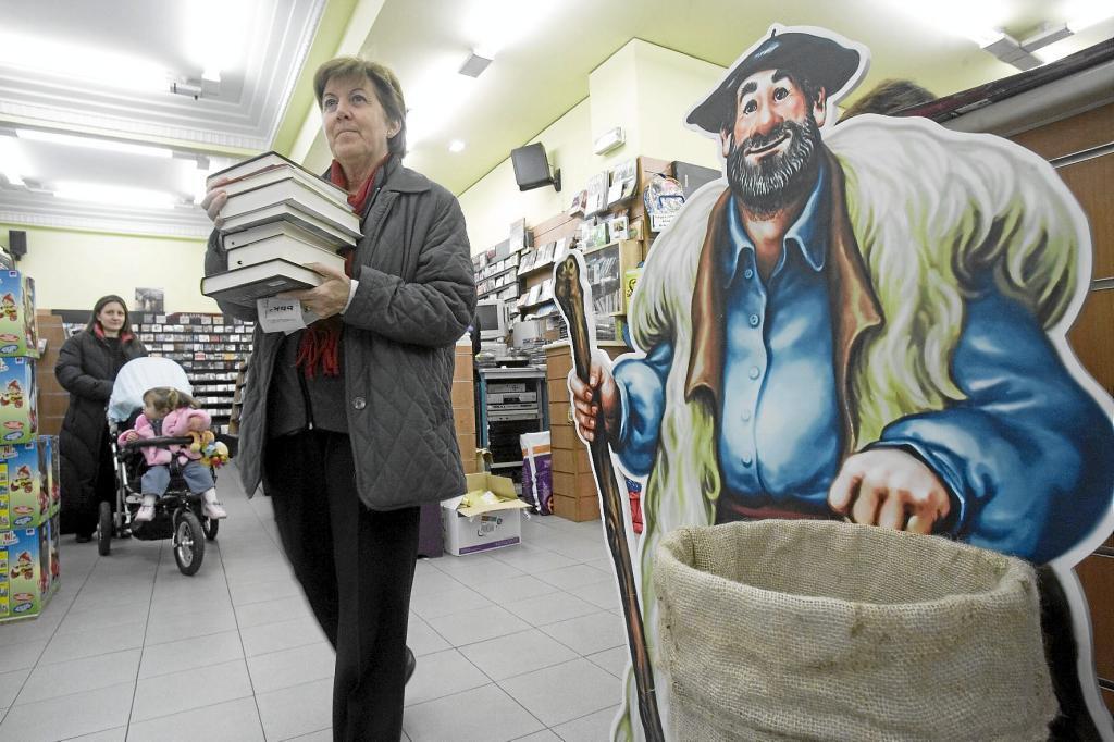 Una librería vizcaína en una campaña navideña anterior.