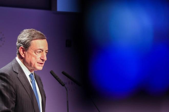 El presidente del Banco Central Europeo (BCE), Mario Draghi, hoy en Fráncfort.