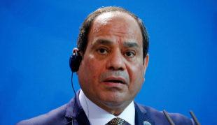 El presidente de Egipto, Abdel Fattah al Sisi, en una conferencia en...