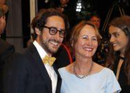 Royal y Thomas, uno de los cuatros hijos que tuvo con Hollande, en Cannes.