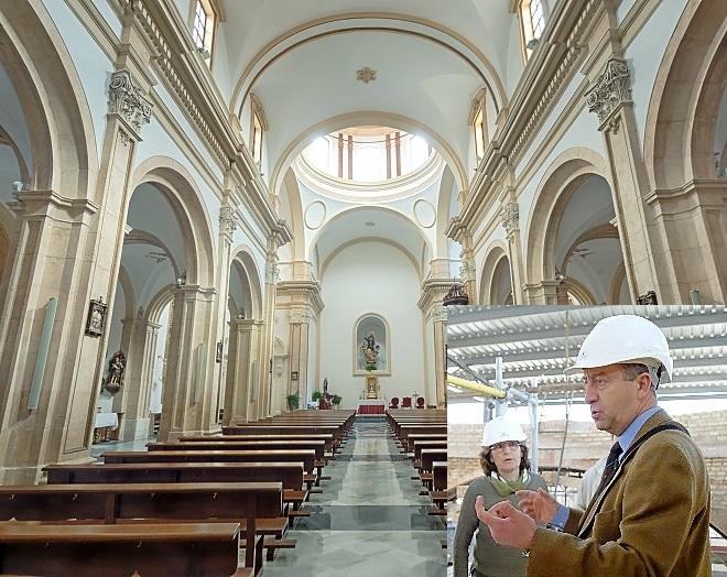 La iglesia barroca de Santiago quedó reducida a escombros tras el terremoto de Lorca de 2011. El arquitecto español Juan de Dios de la Hoz ha conseguido restaurarla y devolverla a su estado anterior.