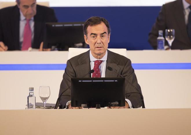 El presidente de OHL, Juan Villar-Mir de Fuentes, durante la última Junta de Accionistas.