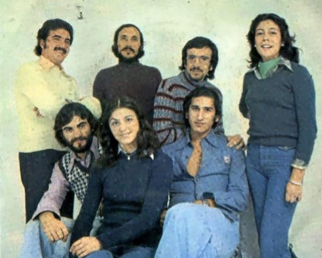 El grupo andaluz Jarcha, en una fotografía de sus años dorados. Suyos fueron los éxitos 'Libertad sin ira' o 'Cuéntame'.