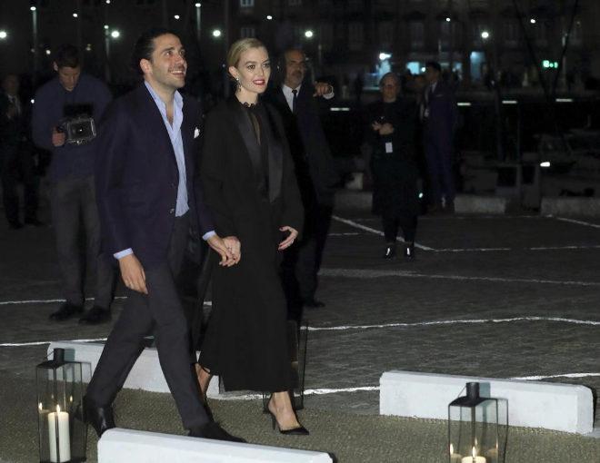 Marta Ortega y Carlos Torretta a su llegada al Real Club Náutico de A...