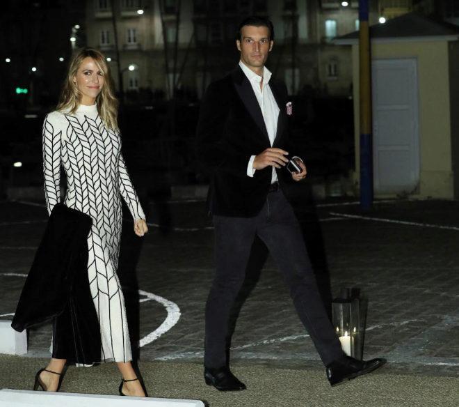 Rafael Medina y Laura Vecino a su llegada al Real Club Náutico de A...