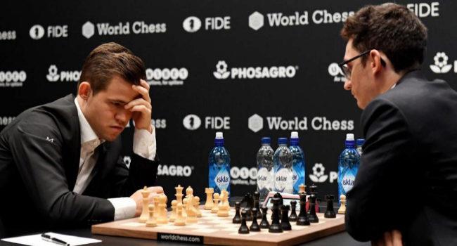 Caruana tortura con negras a Carlsen antes de firmar las tablas