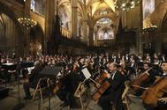 Homenaje a Montserrat Caballé en la catedral de Barcelona.