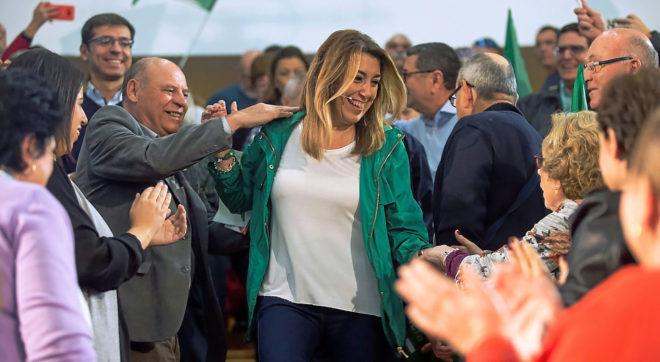 La candidata del PSOE a la reelección como presidenta de la Junta de...