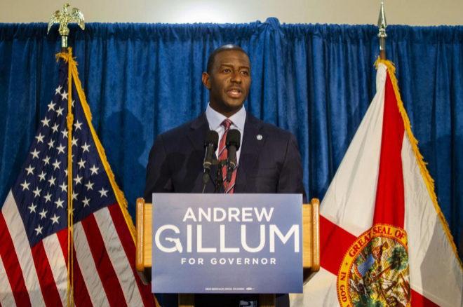 El candidato demócrata a gobernador de Florida da por vencedor al republicano