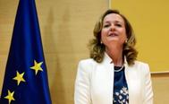 Nadia Calviño, ministra de Economía, en su toma de posesión el pasado mes de junio.