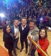 Selfie de Juan Marín con Albert Rivera, Inés Arrimadas y otros...