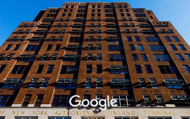 Vista de las oficinas de Google en Nueva York.