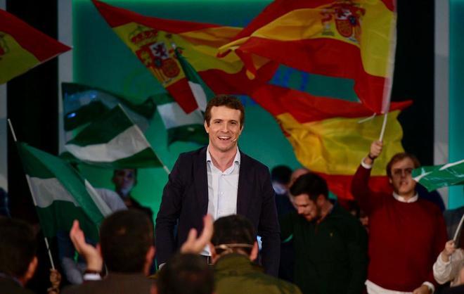 Pablo Casado, en el acto del PP celebrado este domingo en Algeciras.